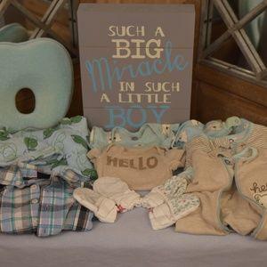 Newborn Boy 11 piece clothes Bundle